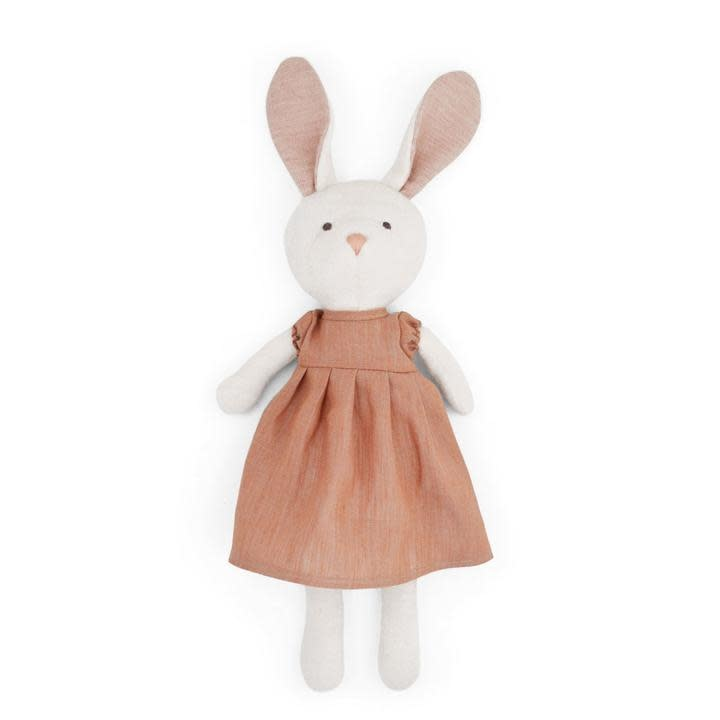 Hazel Village Stuffed Animal Emma Rabbit Clay Dress