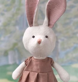 Hazel Village Stuffed Animal Emma Rabbit Clay Dress