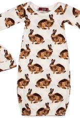 Milkbarn Gown and Hat Set Bunny