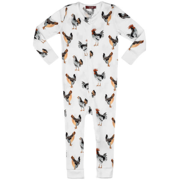 Milkbarn Organic Zipper Pajama Chicken