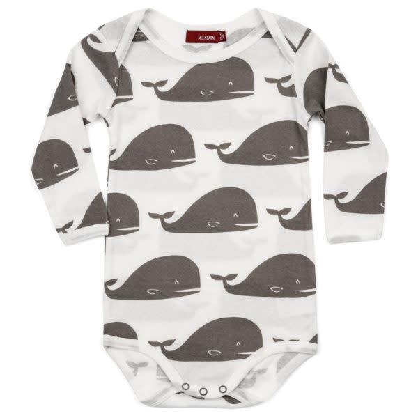 Milkbarn One Piece LS Grey Whale