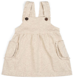 Milkbarn Dress Overall Heathered Oatmeal