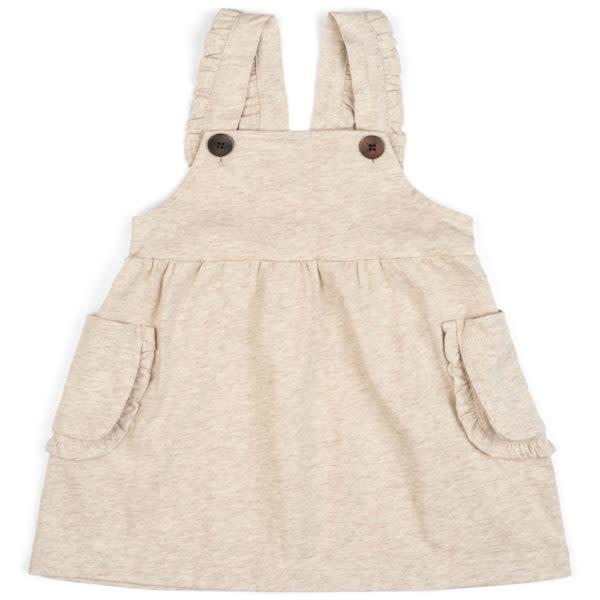 Milkbarn Dress Overall Heathered Oatmeal
