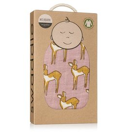 Milkbarn Muslin Swaddle in Rose Doe