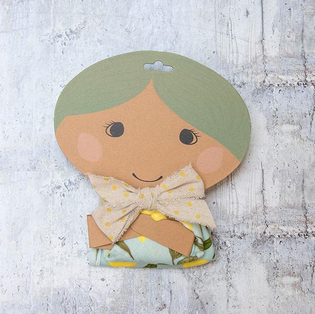 Milkbarn Bundle Mini Lovey & Bib Lemon