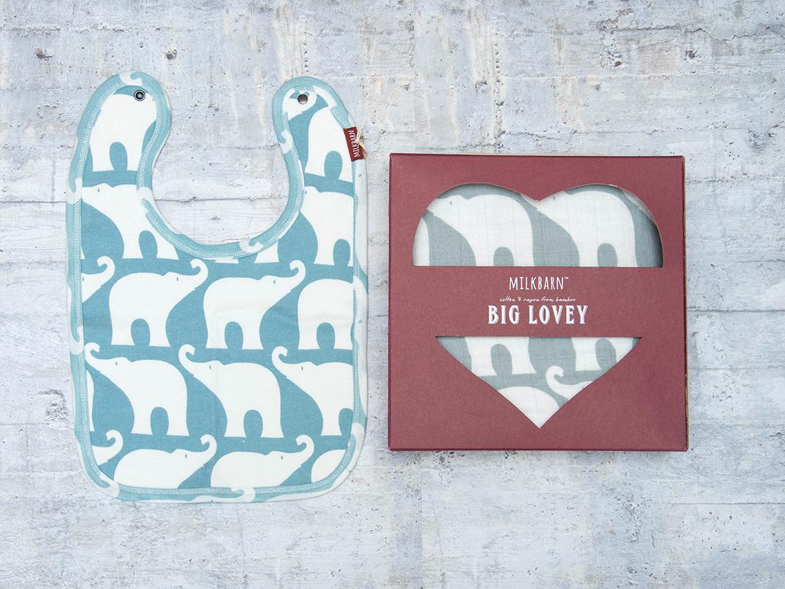 Milkbarn Bundle Big Lovey & Bib Elephant