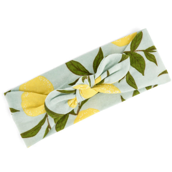 Milkbarn Bundle Headband & Burp Cloths Lemon