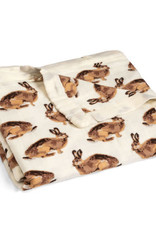 Milkbarn Bundle Burp Cloths & Gown/Hat Set Bunny