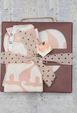 Milkbarn Bundle Big Lovey & Romper Elephant Size 12-18M