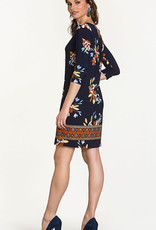 Leota Santa Barbara Dress Floral Navy