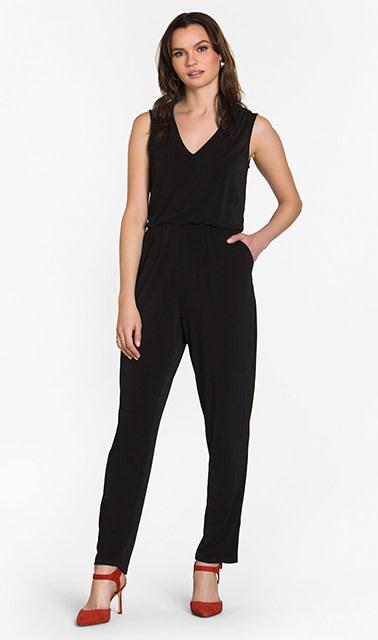 Leota Kennedy Jumpsuit Black Crepe