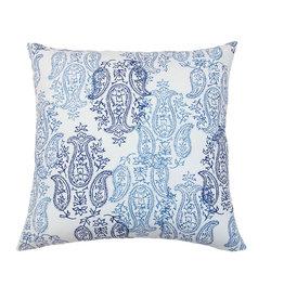 Kreatelier Paisley John Robshaw Pillow in Blue 18 x 18in