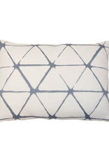 Kreatelier Geometric Embroidered Pillow in Grey 11 x 15in