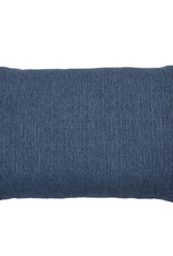Kreatelier Woven Pillow in Navy 15 x 22in