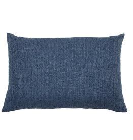Kreatelier Woven Pillow in Navy 15 x 22in