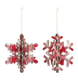 Demdaco Plaid Snowflake Ornament
