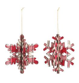 Demdaco Plaid Snowflake Ornament