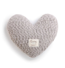 Demdaco Giving Heart in Taupe