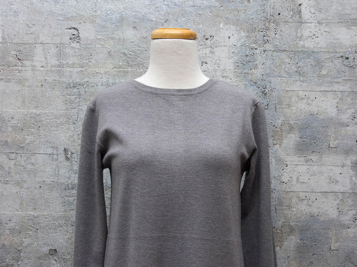 Vintage Concept Long Sleeve Sweater in Grey