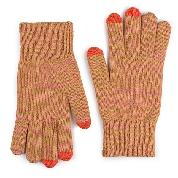 Verloop Twist Touchscreen Gloves in Camel