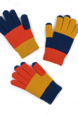 Verloop Kids Pair and Spare Gloves in Blue Yellow