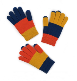 Verloop Kids Pair and Spare Gloves in Blue Yellow