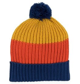Verloop Kids Pom Hat in Blue Yellow
