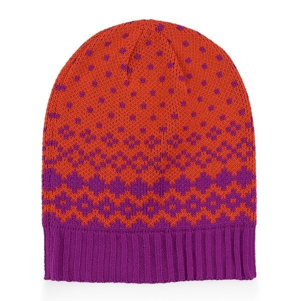 Verloop Fair Isle Hat in Poppy
