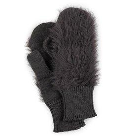 Verloop Faux Fur Mittens in Grey