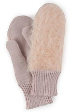 Verloop Faux Fur Mittens in Mineral Pink
