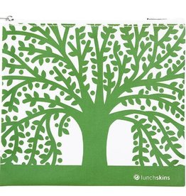Lunchskins Reusable Sandwich Bag Green Tree (Zippered)
