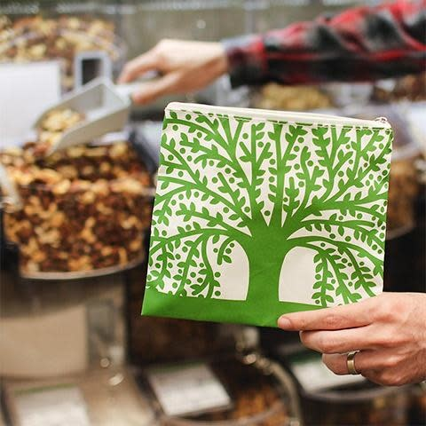 Lunchskins Reusable Sandwich Bag Green Tree (Zippered)