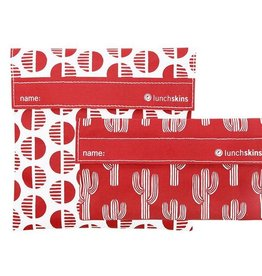 Lunchskins 2-Pack Reusable Bag Set Desert Red (Velcro)