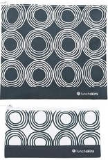 Lunchskins 2-Pack Reusable Bag Set Circles Charcoal (Zippered)