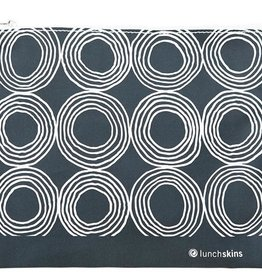3greenmoms Reusable Sandwich Bag Charcoal Circles (Zippered)