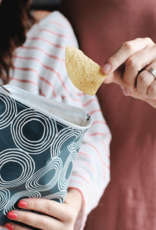 Lunchskins Reusable Sandwich Bag Charcoal Circles (Zippered)