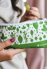 3greenmoms Reusable Snack Bag Green Leaves (Zippered)