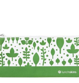 3greenmoms Reusable Snack Bag Green Leaves (Zippered)
