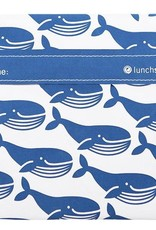 3greenmoms Reusable Sandwich Bag Blue Whale (Velcro)