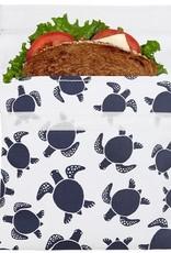 Lunchskins Reusable Sandwich Bag Navy Sea Turtle (Velcro)
