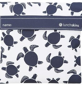 Lunchskins Reusable Sandwich Bag Navy Sea Turtle (Velcro)