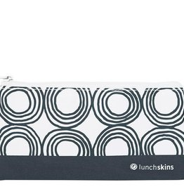 3greenmoms Reusable Snack Bag Charcoal Circles (Zippered)
