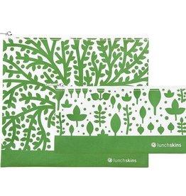 3greenmoms 2-Pack Reusable Bag Set Green Trees (Zippered)