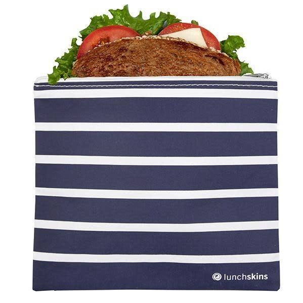 3greenmoms Reusable Sandwich Bag Blue Stripe (Zippered)