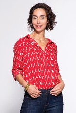 Rockflowerpaper Audrey Tunic in Red and White