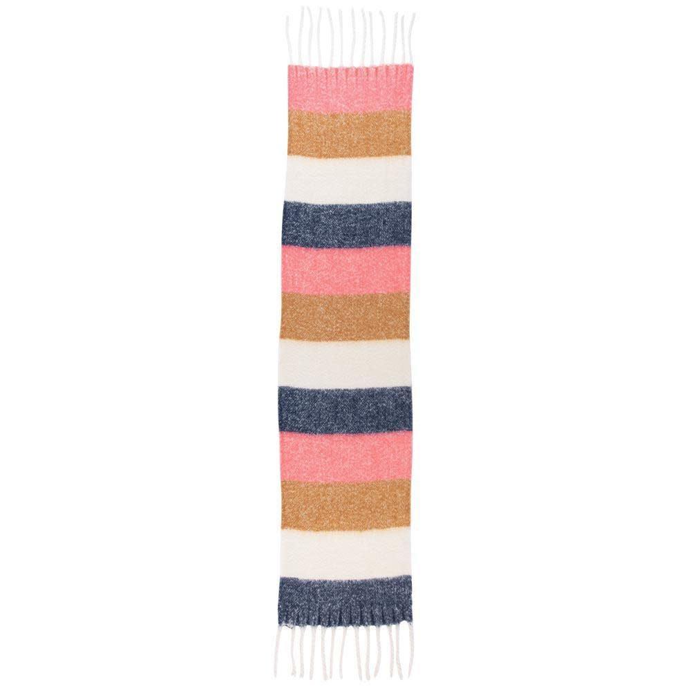 Rockflowerpaper Cuddle Scarf Navy, Pink & Tan