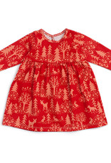 Winter Water Factory Geneva Baby Dress Winter Cranberry