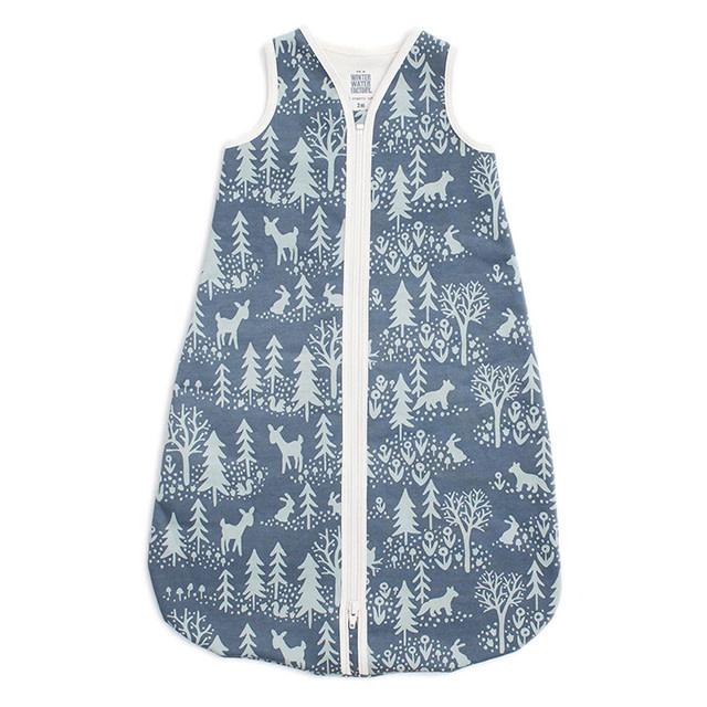 Winter Water Factory Organic Baby Sleep Bag Winter Slate Blue