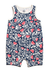 Winter Water Factory Tank Top Romper Holland Floral Navy & Coral