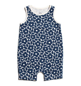 Winter Water Factory Tank Top Romper Marrakesh Floral Blue